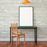 Workspace mock up poster Royalty Free Stock Photo