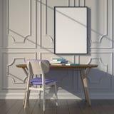Workspace mockup. Light through the window. Royalty Free Stock Image