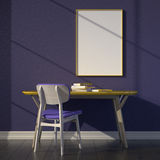 Workspace mockup. Light through the window. Stock Images