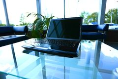 Workspace modern home office desk. With laptop and equipment Stock Photography