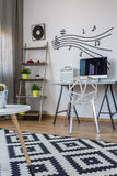 Workspace of a music lover Royalty Free Stock Photos
