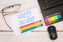 Workspace notebook and scratchpad Royalty Free Stock Photos