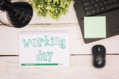 Workspace notebook and scratchpad Stock Photos