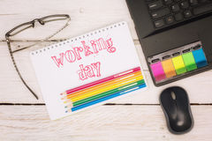 Workspace notebook and scratchpad Royalty Free Stock Photography
