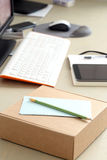 Workspace. Objects on the table Royalty Free Stock Image