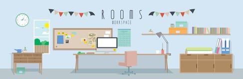 Workspace (pokoje) royalty ilustracja
