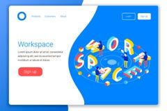 Workspace projekta pojęcie royalty ilustracja