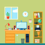 Workspace In Room Stock Photography