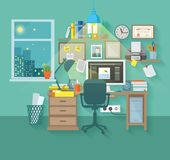 Workspace In Room Stock Photos