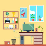 Workspace In Room Stock Image