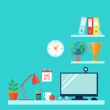 Workspace In Room Royalty Free Stock Images