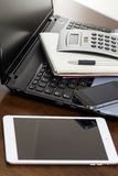 Workspace. Technology on the table Royalty Free Stock Photos