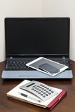 Workspace. Technology on the table Royalty Free Stock Image