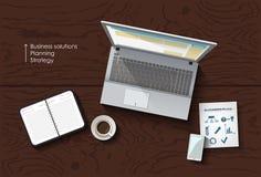 Workspace vector concept Stock Photos
