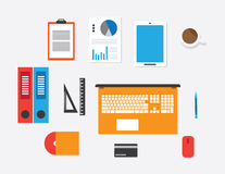 Workspace vector concept flat style Stock Image