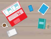 Workspace vector concept flat style Royalty Free Stock Photos