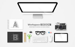Workspace. Vector Royalty Free Stock Photo