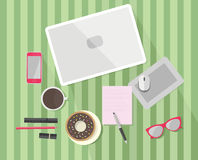Workspace vector illustration. Stock Image