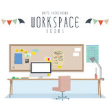 Workspace (White Background) Stock Images