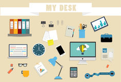 Workspace in the work Stock Photos