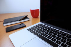 Workstation. Close up simple work station royalty free stock photo