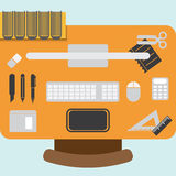 Workstation design element Royalty Free Stock Photos