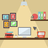 Workstation Flat Design Royalty Free Stock Photography