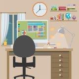 Workstation, flat design Stock Image