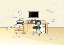 Workstation In The Office Stock Images
