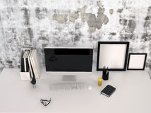 Workstation in an office or study Royalty Free Stock Photography