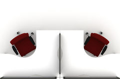 Workstation Table-3d Illustration Royalty Free Stock Photos - Image