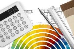Worktable di interior design illustrazione vettoriale
