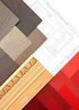 Worktable di interior design Immagine Stock