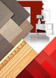Worktable di interior design Fotografia Stock
