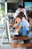 Workteam in commerciële klasse Royalty-vrije Stock Fotografie