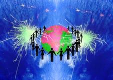 Workteam unido dos povos ilustração royalty free