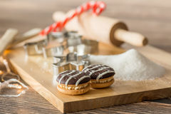 Worktop with baking utensils Royalty Free Stock Images