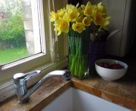 Worktop de la cocina Foto de archivo libre de regalías
