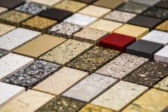 Worktops coloridos da cozinha do mármore e do granito Imagens de Stock Royalty Free