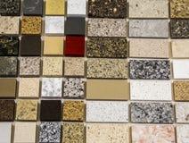 Worktops coloridos da cozinha do mármore e do granito Imagens de Stock