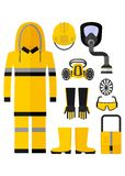 Workwear chemical protection suit Stock Photo