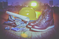 Workwear and city Stock Photo