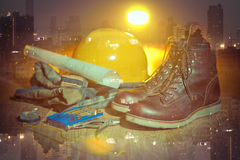 Workwear and city Royalty Free Stock Images