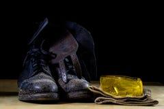 Workwear dla pracownika budowlanego Hełm, rękawiczki, buty i su, zdjęcia royalty free