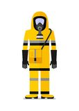 Workwear man in gas mask Royalty Free Stock Photo