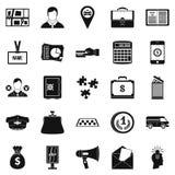 Workweek icons set, simple style Royalty Free Stock Photos