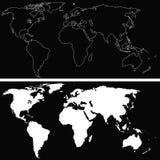 Worl Map Illustration Stock Image