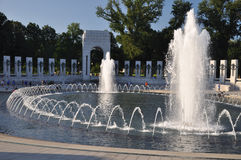 Worl War II Memorial. A view of the World War II Memorial Fountain Royalty Free Stock Images