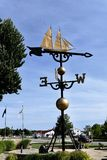 World's Largest Functioning Weather Vane. This is a Summer picture of the iconic World's Largest Functioning Weather Vane located in Montague, Michigan in Royalty Free Stock Photos