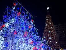 THE WORLD'S MOST ILLUMINATED CHRISTMAS TREE, Centralworld, Bangkok ,Thailand stock photos